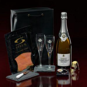 luxury champagne gift box michel fagot relatiegeschenk
