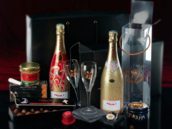 Relatiegeschenk Premium champagne gift box Maxims