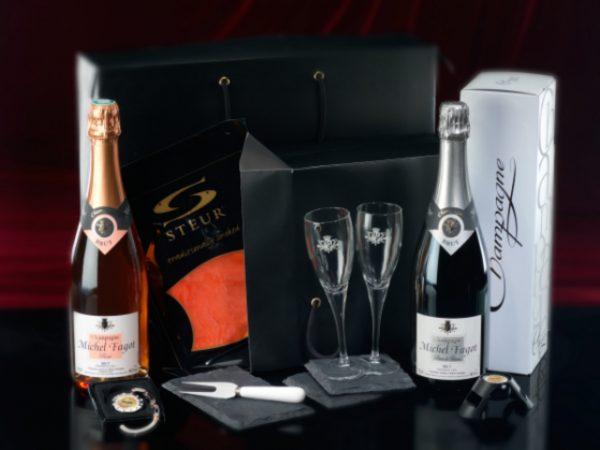 Premium champagne gift box michel fagot relatiegeschenk