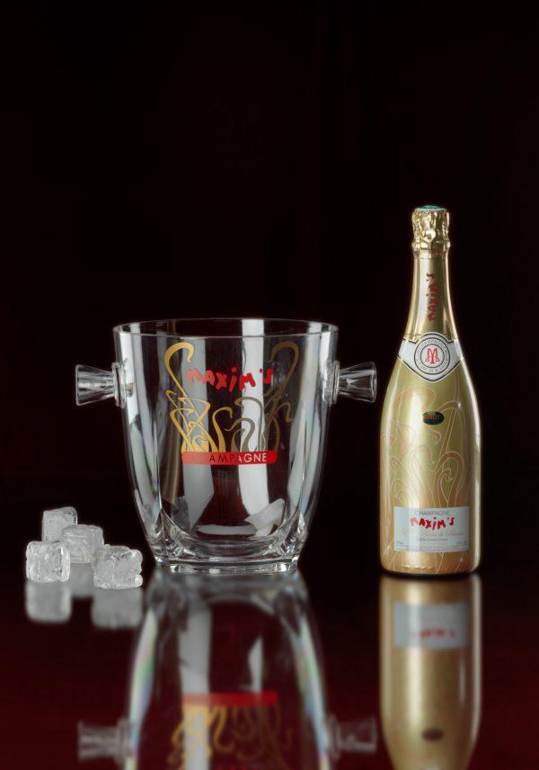 champagne en koeler maxims relatiegeschenk